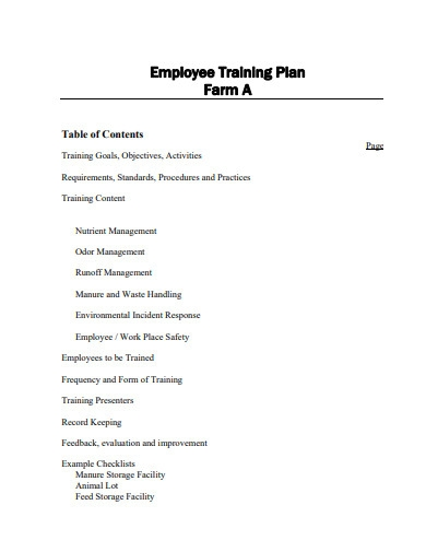 employee safety training plan