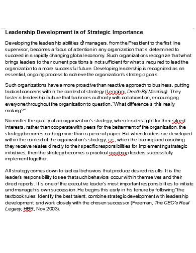 executive leadership development in doc