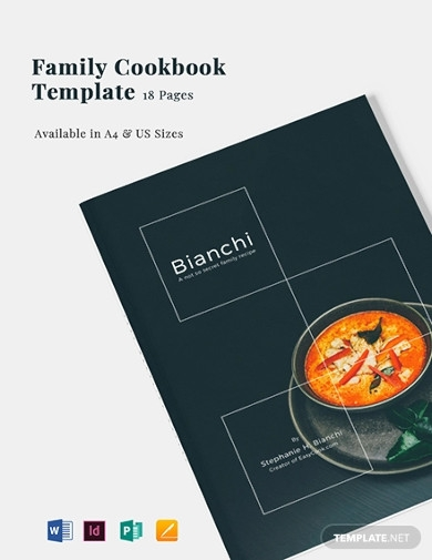 family cookbook templates