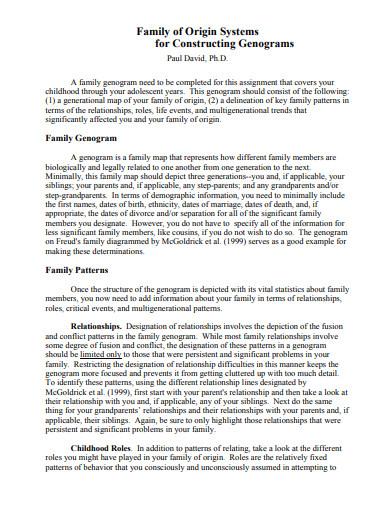 family of origin and constructing genograms