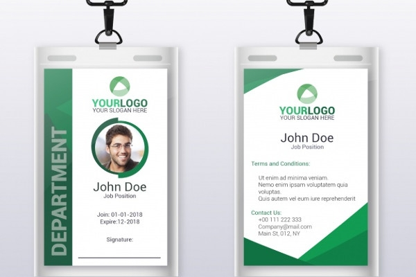flat id card template