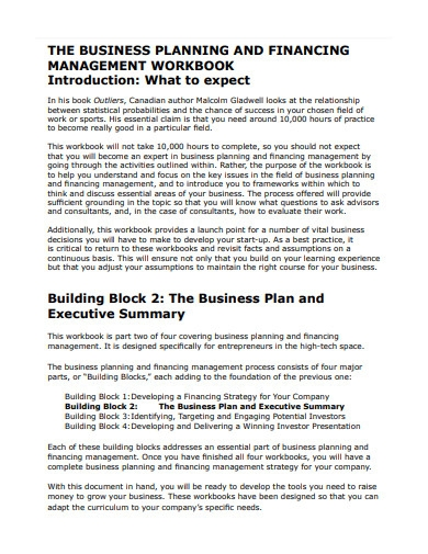 formal business execution plan