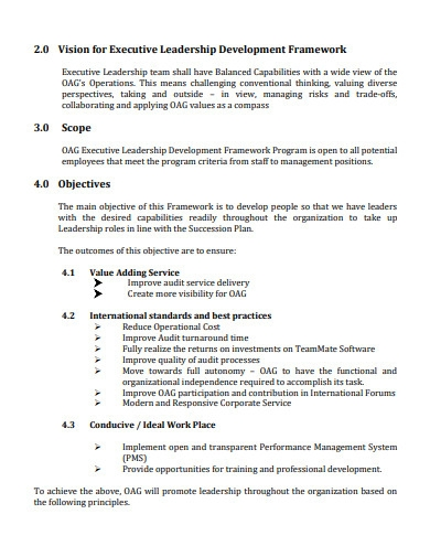 formal executive leadership development plan