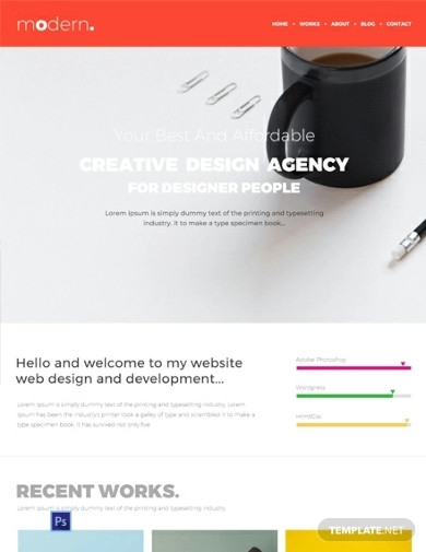 free design portfolio website templates