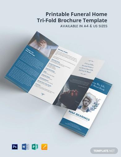 free printable funeral home tri fold brochure template