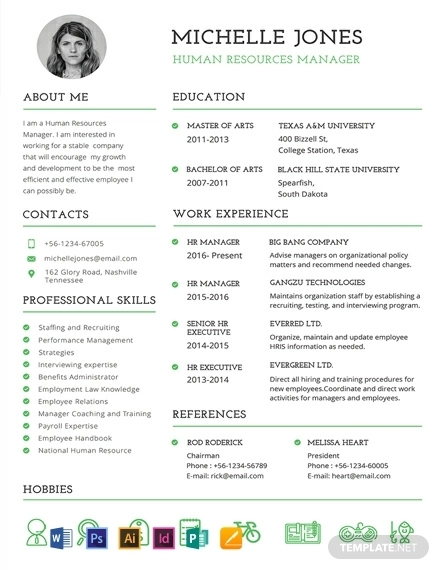 free professional hr resume template