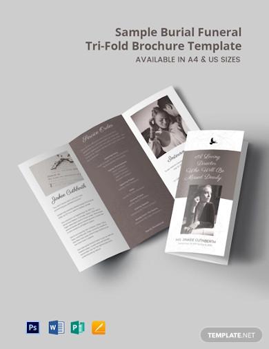 free sample burial funeral tri fold brochure template