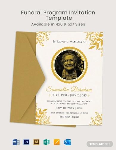 funeral program invitation templates