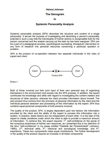 genogram in systemic personality analysis
