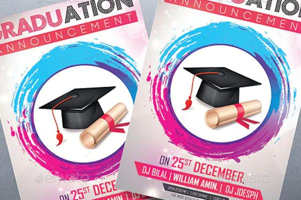graduation announcement ceremony invitation