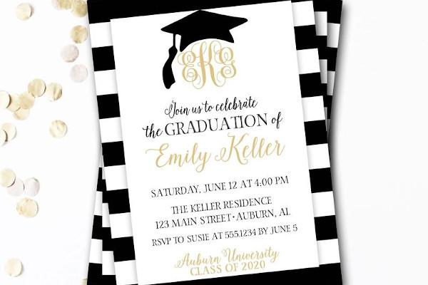 graduation grand party invitation announcement