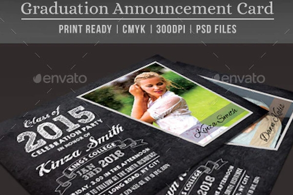 graduation party announcement card