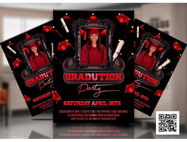 graduation prom night party invitation flyer