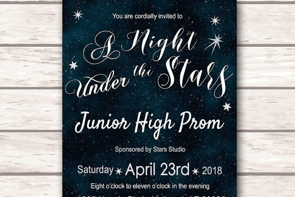 graduation prom party ticket flyer