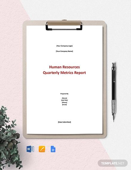 hr metrics report template