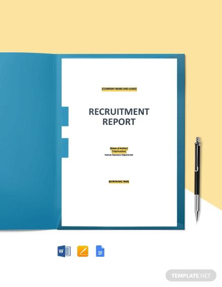 hr recruitment report template