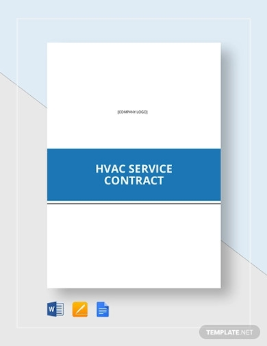 hvac service contract example