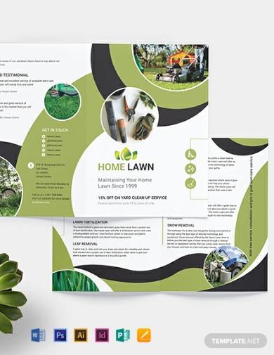 home care bi fold brochure templates