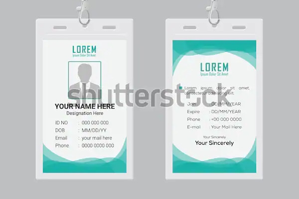 id card design templates