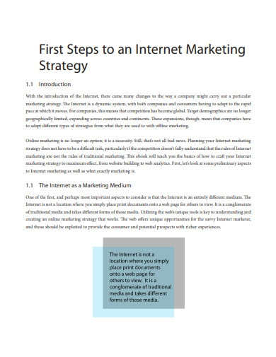 internet marketing strategic plan