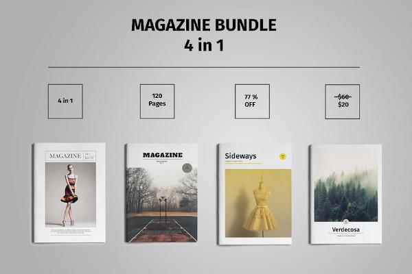 magazine bundle template indesign