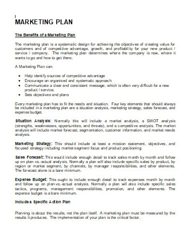 marketing plan for inovators