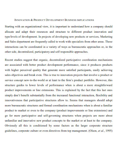 marketing plan for the launching of a tea product