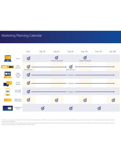 marketing planning calendar example