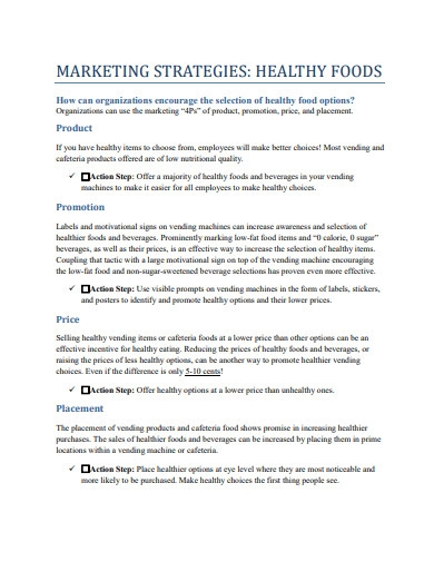 marketing strategies for healthy food