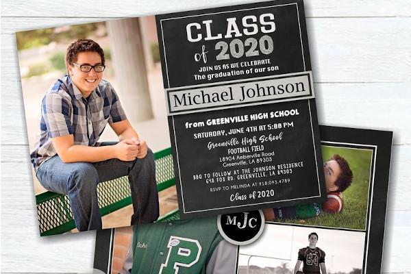 masculine graduation party invitation