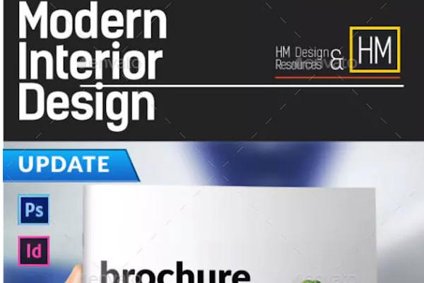 modern interior catalog or portfolio design