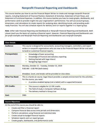 nonprofit financial report example