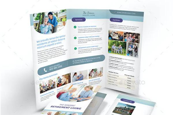 nursing home trifold brochure example