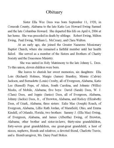 obituary example