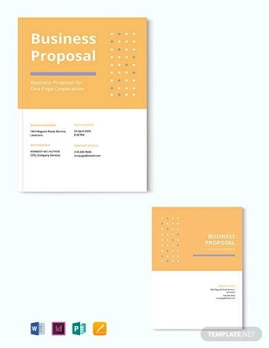 one page proposal example