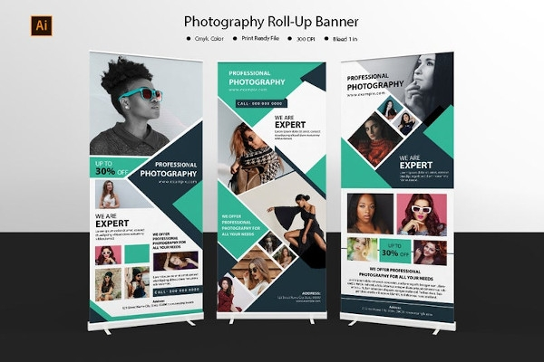 photography roll up banne