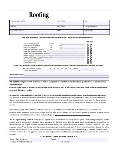 printable roofing contract