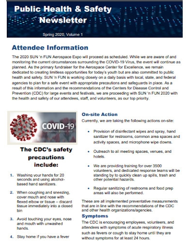 public health and safety newsletter