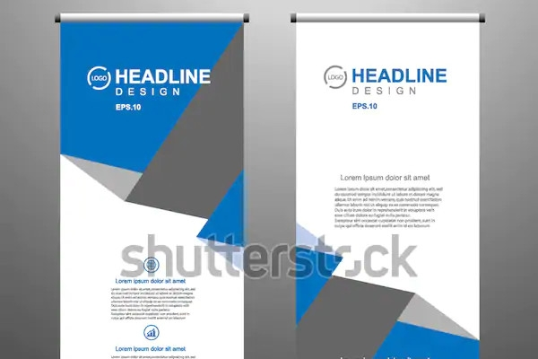 roll up banner stand template