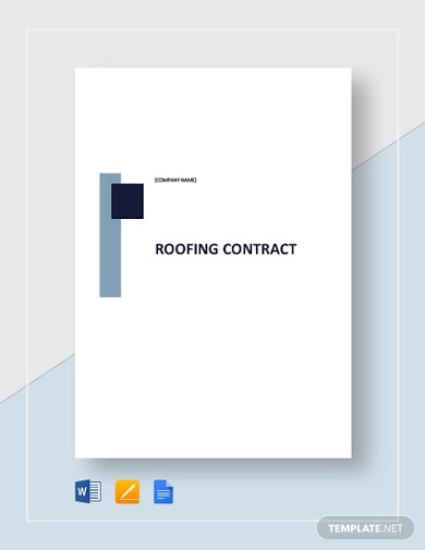 roofing contract examples