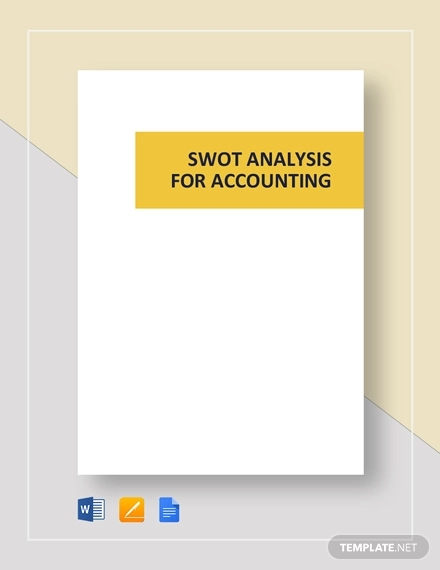 swot analysis for template accounting