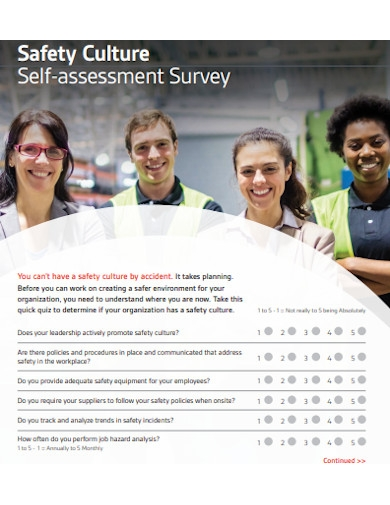 safety culture self assessment survey