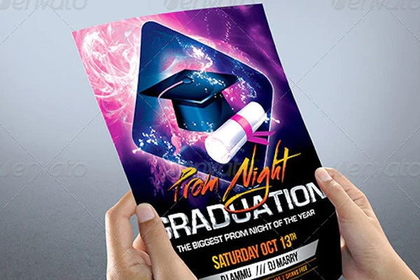 sample graduation prom night party flyer