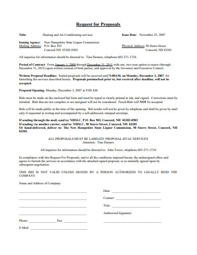 sample hvac service contract