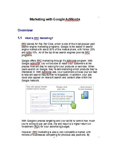 sample internet marketing plan example