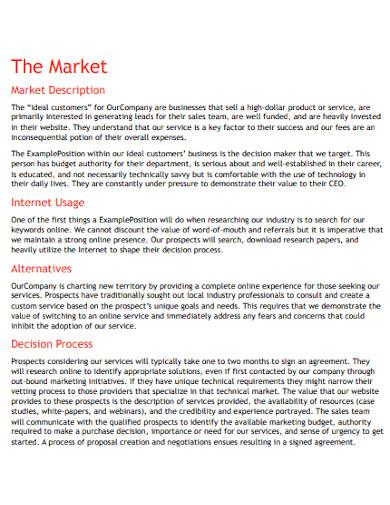 sample internet marketing plan