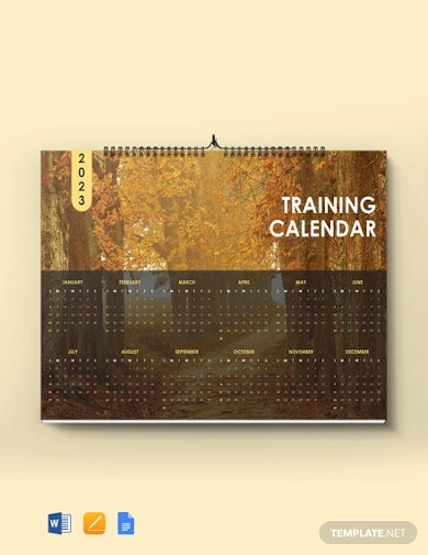 sample training desk calendar