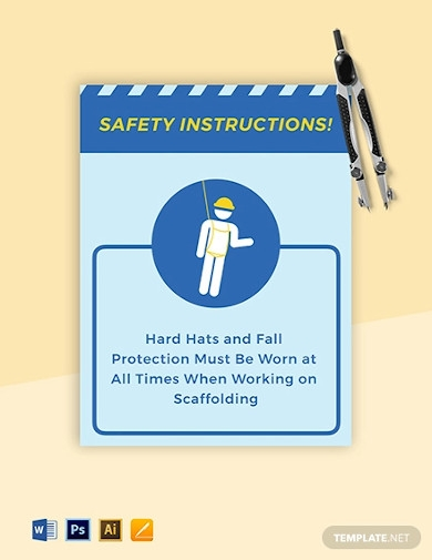 scaffold safety sign template
