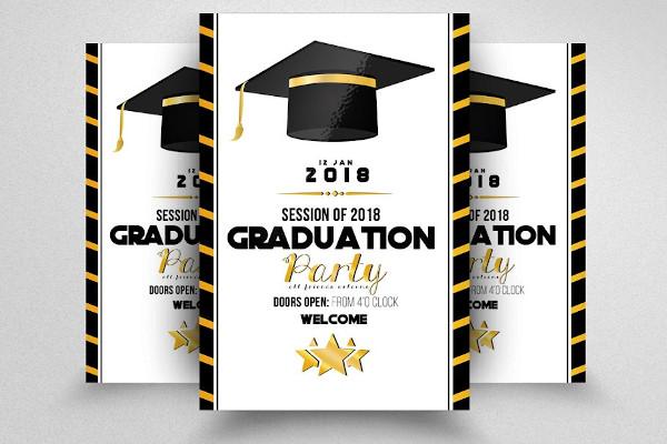 simple graduation party announcement template