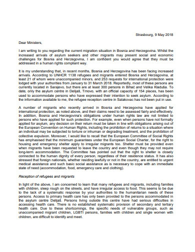 simple immigration letter